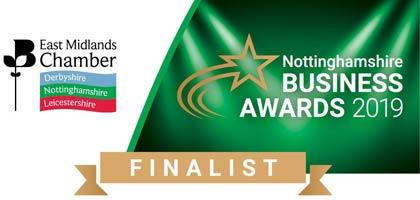 East Midlands Chamber Business Awards Finalist 2019
